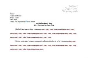 Essay Header Format by Mla Formatting Burlington High School Department