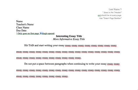 essay structure headings mla format heading