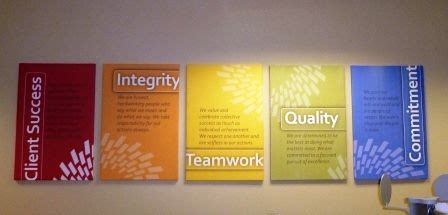 corporate values display google search office