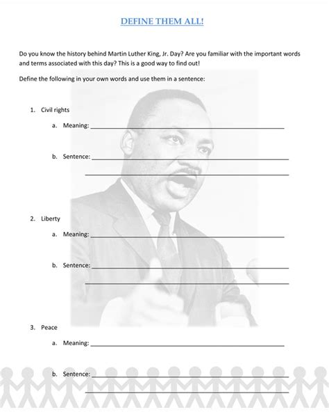 Martin Luther King Jr Worksheets by Martin Luther King Jr Lesson Plan Worksheet Product