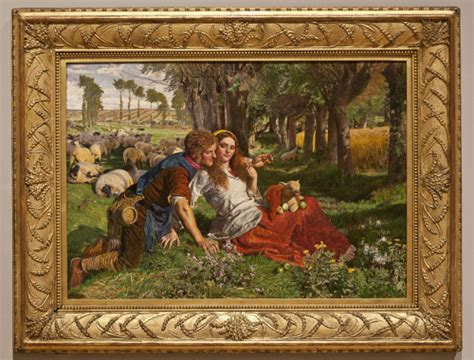 by william holman hunt the hireling shepherd pre raphaelite frames the frame blog