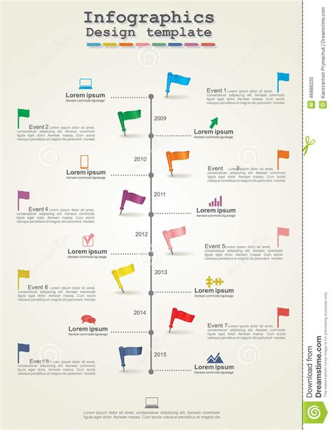 layout for timeline infographics timeline element layout vector stock vector