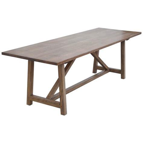 custom dining table in rift white oak for sale at 1stdibs