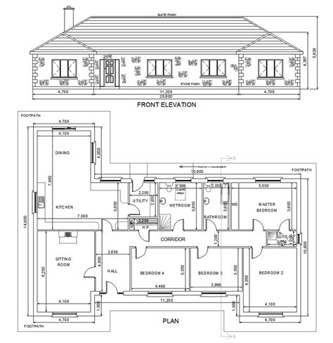bungalow floor plan with elevation you should have house plans before you start building