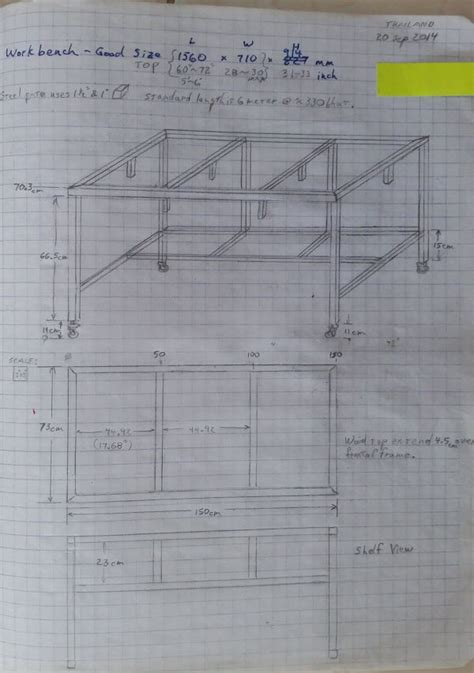 metal bench plans free diy homemade metal workbench plans