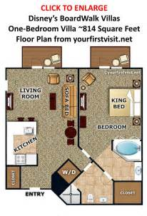 Disney S Boardwalk Villas One Bedroom Floor Plan From