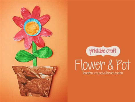 pattern for paper flower pot printable flower pot craft