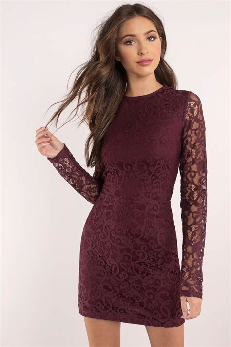 Dress Longsleeve burgundy dress sleeve dress royal burgundy dress
