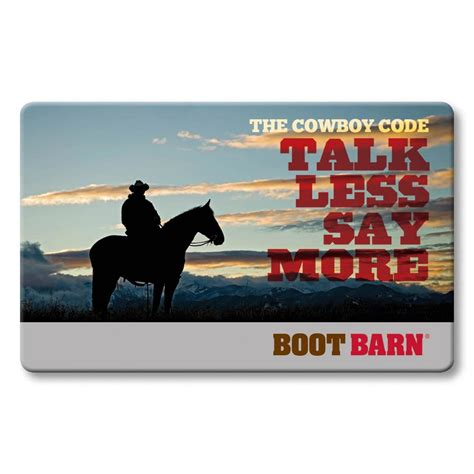 Boot Barn E Gift Card - boot barn 174 talk less say more gift card boot barn