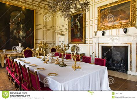 Royal dining room editorial photo. Image of decoration