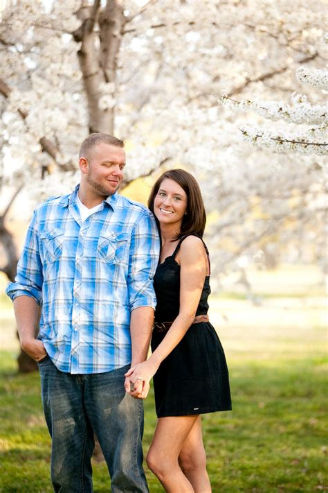 christa kenny s cherry blossom engagement session in