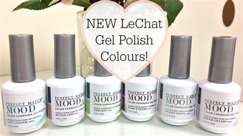 match gel colors new lechat match mood gel colours