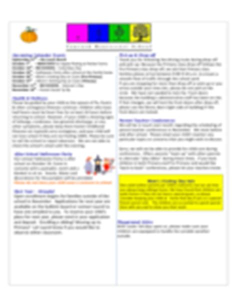 School Newsletter Template 3 Free Templates In Pdf Word Excel Download Montessori Newsletter Templates