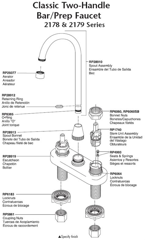 delta kitchen faucet parts diagram delta kitchen faucet repair diagram