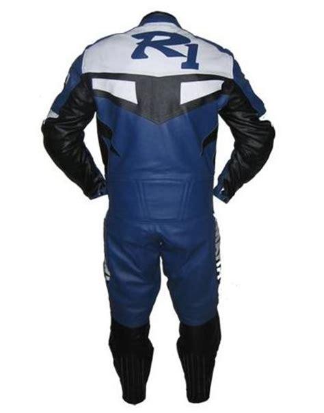 Motorrad Lederkombi F Rben by Yamaha R1 Blau Wei 223 E Farbe Motorrad Lederkombi