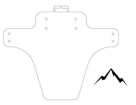 mudguard template cyclery