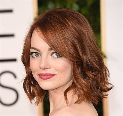 emma stone angled lob the lob is officially the haircut of 2015 emma stone