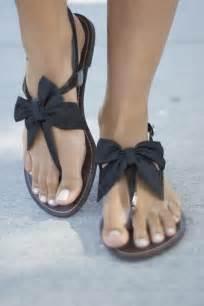 black sandals undone bow sandals tutorial practicing pinterest