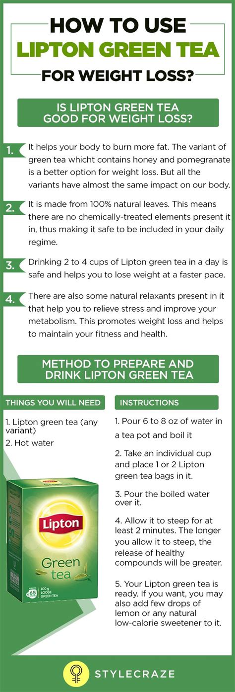Does Lipton Green Tea Detox by How To Use Lipton Green Tea For Weight Loss Lipton Green