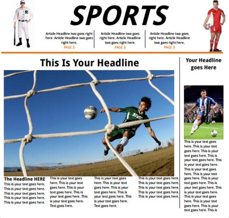 template sports newspaper template 42 free documents in pdf