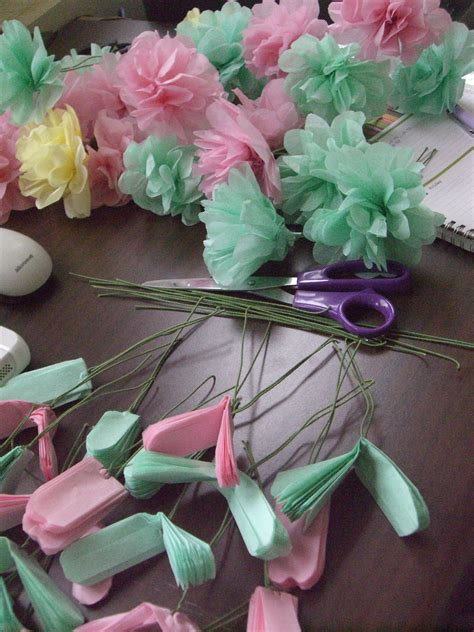 Tissue Paper Flowers With Children - tissue paper flowers for