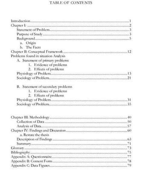 sections of a thesis what are the parts of a thesis