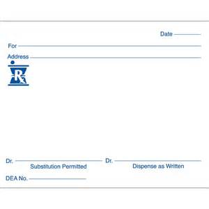 printable blank prescription forms pictures to pin on
