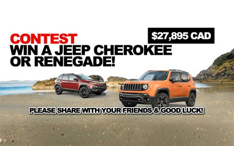 Win A Jeep Sweepstakes - contest win a jeep cherokee or renegade