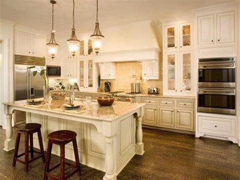 antique off white kitchen cabinets off white cabinets wood floors kitchen idea remodel