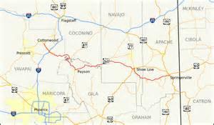 arizona hwy map arizona state route 260
