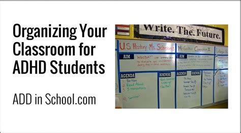 organizing your classroom for adhd students elem add in