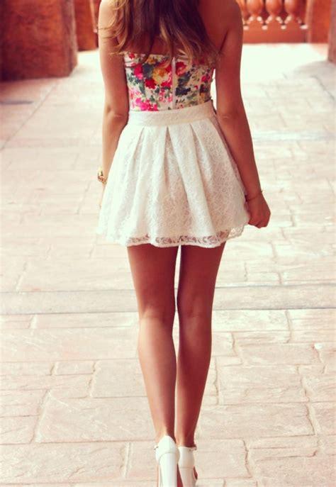 white skater skirt outfits www imgkid com the image