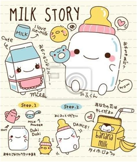 doodle for monthsary wall mural doodle milk story vector pixersize