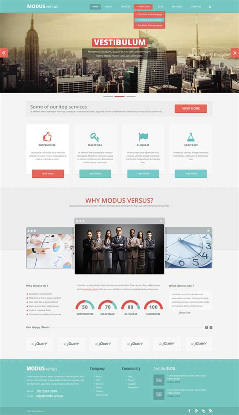 20 free high quality psd website templates js