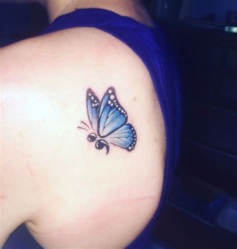 tattoo butterfly semicolon semicolon butterfly tattoo photos pinterest