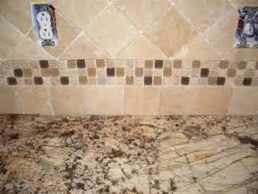 backsplash tumbled tile kitchen