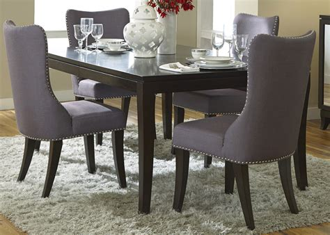 Dining Room With Bench Grey Upholstered Dining Chairs Decofurnish