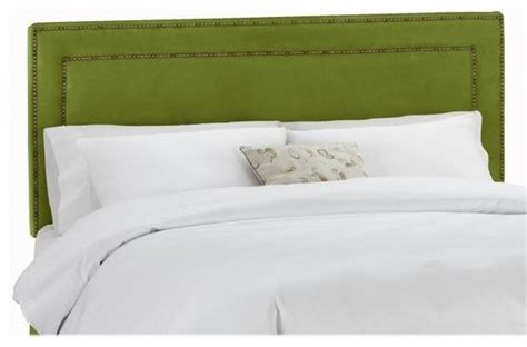 green upholstered headboard nail button border upholstered headboard velvet apple