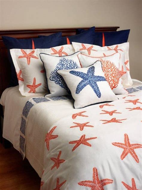 starfish in bed anali bed linen sea fan and starfish decorative