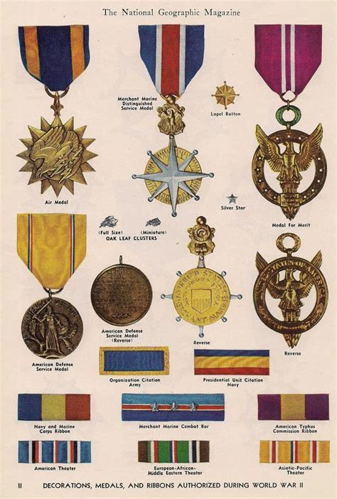 Us Army Decorations by Decorations Medals Ribbons Authorized During World War