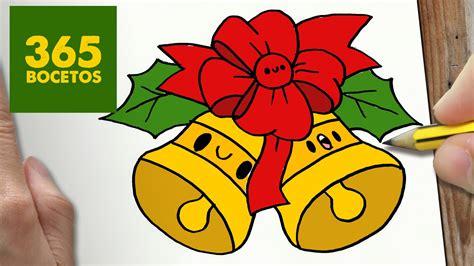 imagenes kawai de navidad como dibujar campana para navidad paso a paso dibujos