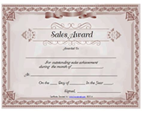 sales certificate template printable sales awards certificates templates