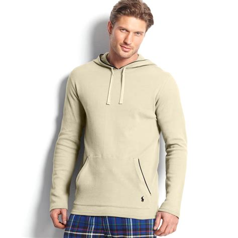 knit hoodie ralph longsleeve waffle knit tipped thermal hoodie