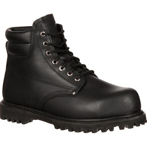 safety shoes for 6 quot black steel toe work boots lehigh safety shoes 5236