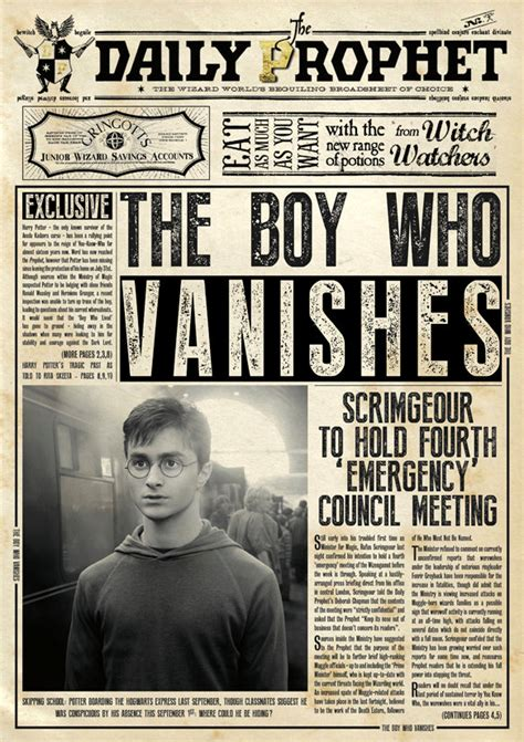 harry potter daily prophet poster
