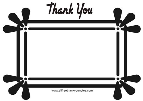 Thank You Letter Border Template Thank You Card Clip Clipart Best