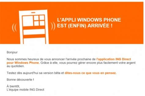 Plafond Virement Ing Direct by Banque Ing Direct A Enfin Application Sur Windows