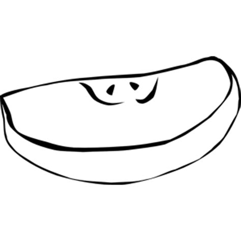 apple slices coloring page fast food snack apple slice clipart cliparts of fast