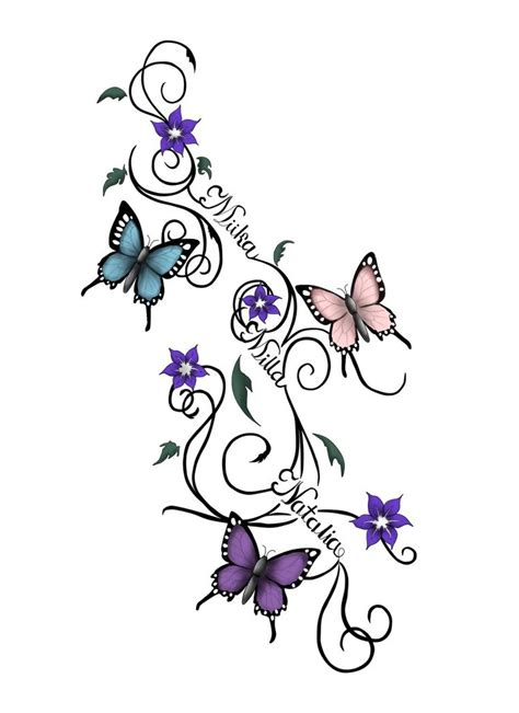 butterfly tattoo made out of names vines and butterflies tattoo by ravenguardian13 on deviantart