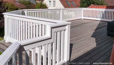 balkongeländer handlauf holz gel 228 nder f 252 r balkon terrasse harholz weiss ral mit